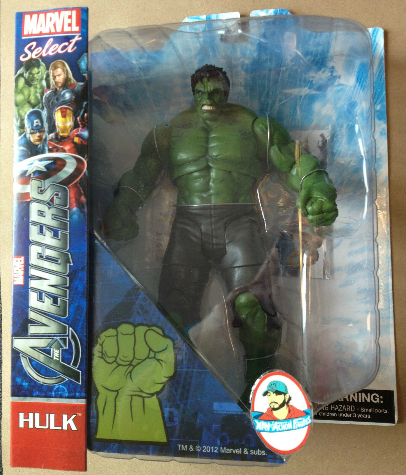 MARVEL SELECT INCROTIBLE HULK THE AVENGERS MOVIE ACTION FIGURE NEW FIGURE