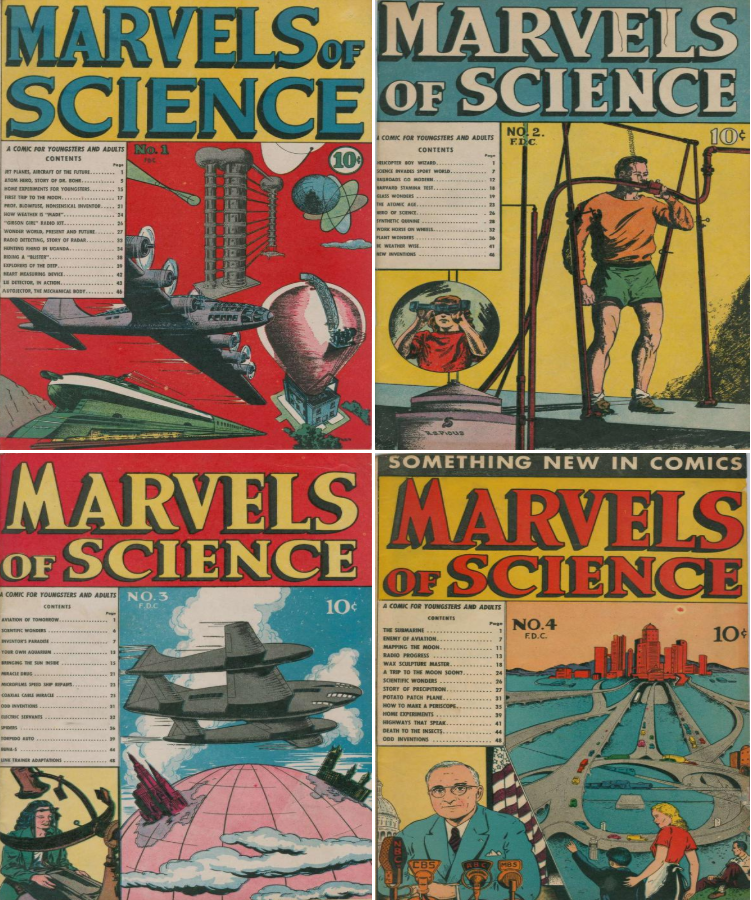 1946 Marvels of Science Comic Book Package - 4 eBooks on CD 2