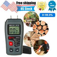 Digital Lcd Wood Moisture Meter Detector Tester Humidity 0 999 Hygrometer D6s6