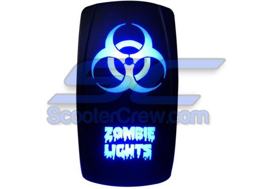 UTV Rocker Switch Blue Led On Off Zombie Light Toggle Square 5 prong Dune Sand