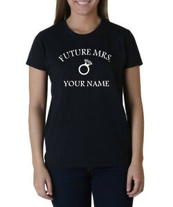 7c60db917 Future Mrs. Women's Custom T-Shirt Wedding Shirts Bride Ring ...