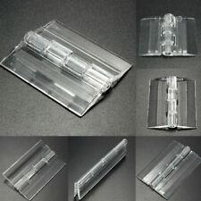 10X Durable Clear Acrylic Folding Hinges Transparent   Hinge 5 Sizes TU