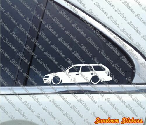 for Toyota Corolla wagon AE102 1992-1998retro Lowered car outline stickers