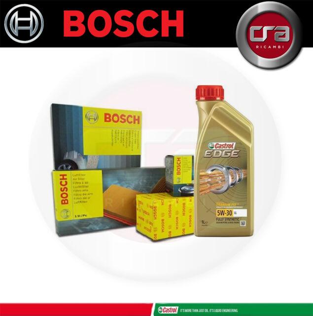 Kit tagliando olio motore CASTROL EDGE 5W30 5 LT 4 FILTRI BOSCH VW GOLF 4 IV TDI