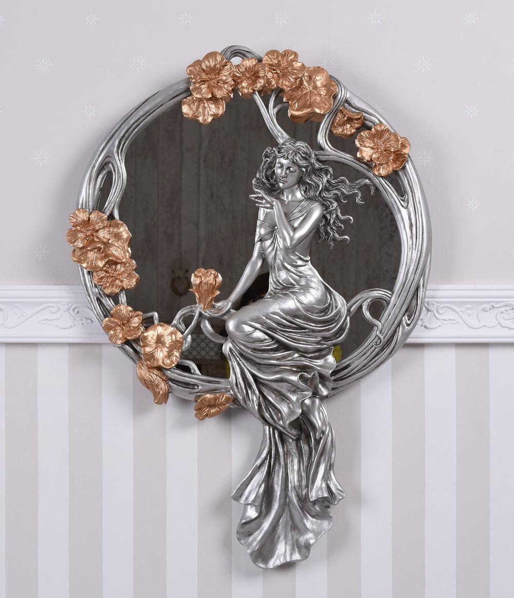 Miroir style art déco mural miroir mural déco Femmes personnage relief secession déco 3d8b1c