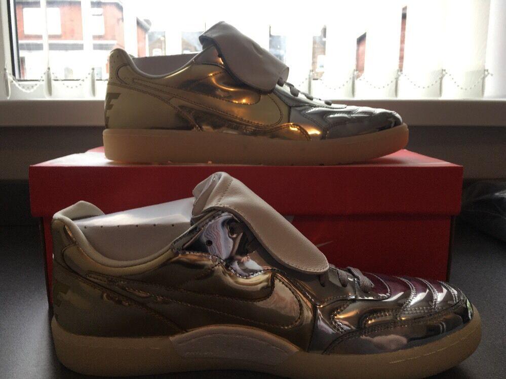 Nike NSW Tiempo 94 DLX QS LIQUIDO ARGENTO METALLICO 718300-001 US 13 47.5 Scarpe classiche da uomo