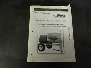 Stone Construction Champion 655PMP & 855PMP Plaster Mortar Mixer ...