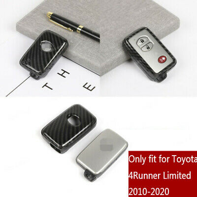 Red Carbon Fiber ABS Key Fob Shell Cover For Toyota 4RUNNER Limited 2010-2020