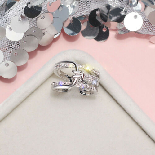 Knotted Ouverture Anneau Zircon Korean Fashion Women Finger Ring Jewelry