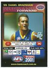 2001 Teamcoach Prize Card (59) Daniel BRADSHAW Brisbane