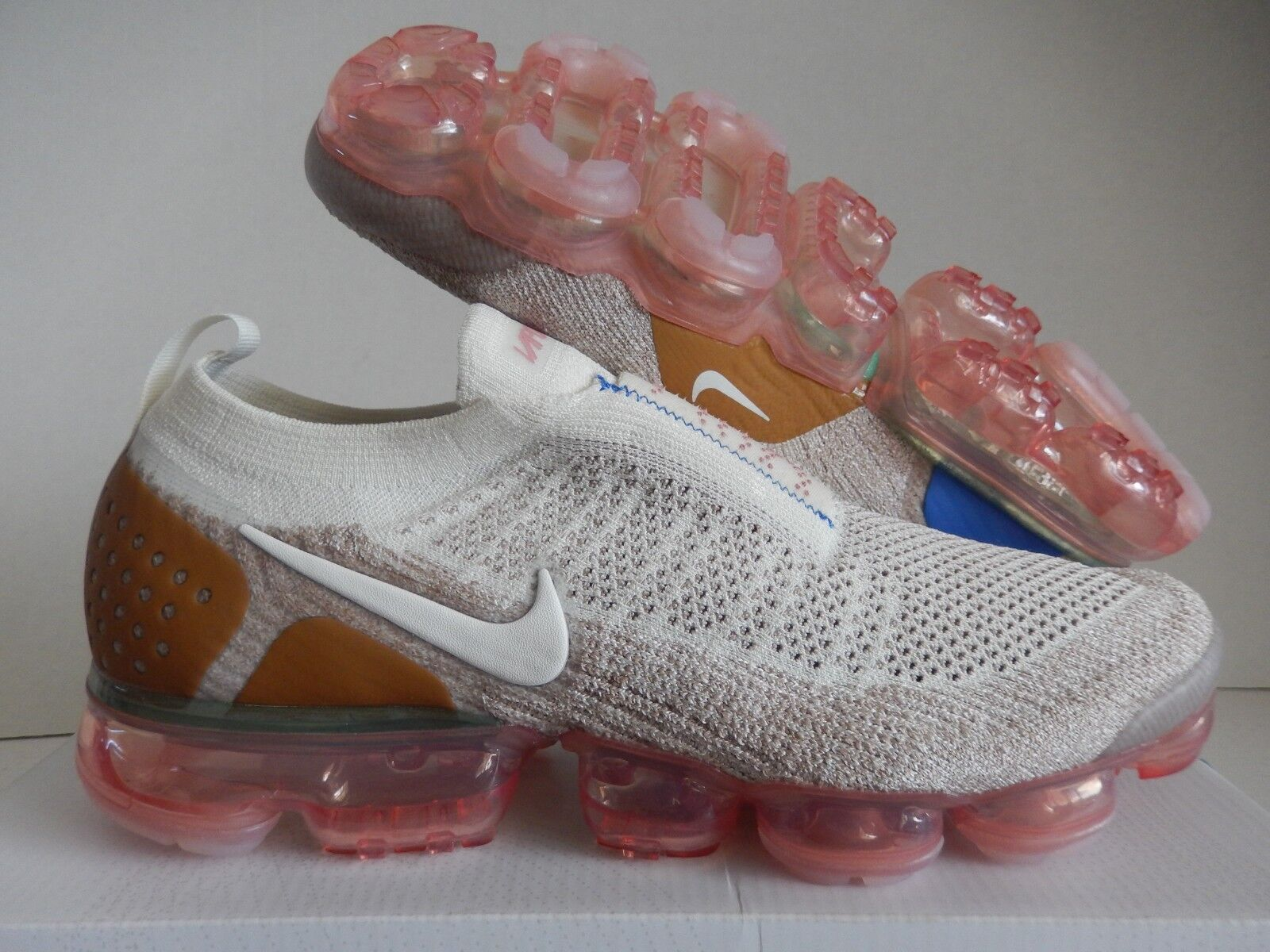 606da3198864c Nike Air Vapormax Flyknit MOC 2 Unisex Shoes Sail   Wheat Ah7006-100 ...