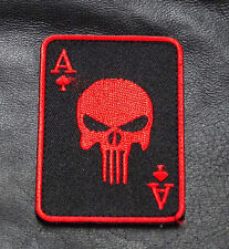 PUNISHER INFIDEL ACE SPADE DEAD MAN  HAND TACTICAL COMBATMORALE HOOK PATCH