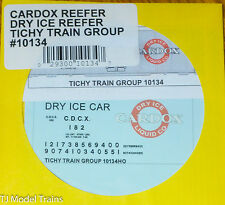 Tichy Train Group #10134 Decal for: Carbox Reefer Dry Ice Reefer (HO Scale)
