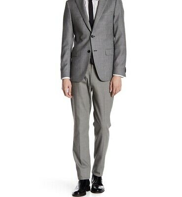 THEORY Mens Jake Slim Fit Flat Front Formal Tuxedo Pants 36 Navy Blue