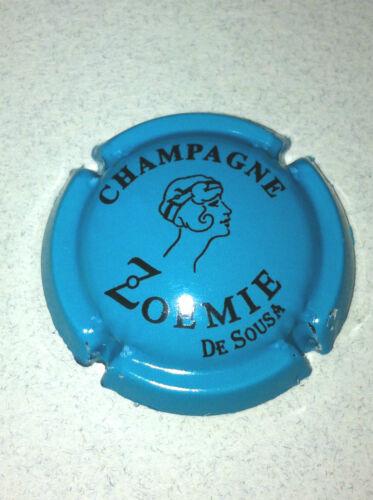 Capsule de champagne DE SOUZA 21b. bleu turquoise et noir