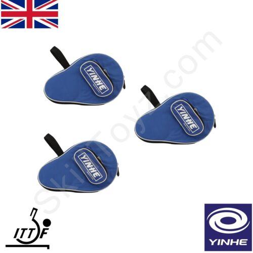 Yinhe table tennis bat doux rembourré étui zippé protéger votre ping pong raquette-bleu