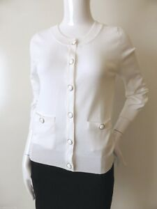 15C Women/'s 3//4 Sleeve Round Neck Button Down Knit Cardigan Cute Good Fabric SML