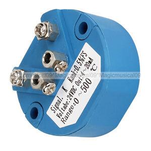 Plastic K Type Thermocouple Temperature Sensor Transmitter 0-500C