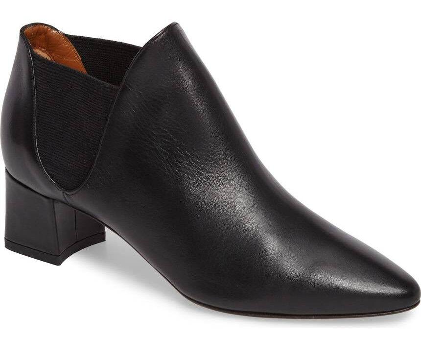 NIB Aquatalia Poppy Weatherproof Chelsea Ankle Leather Elastic Bootie Size 9.5