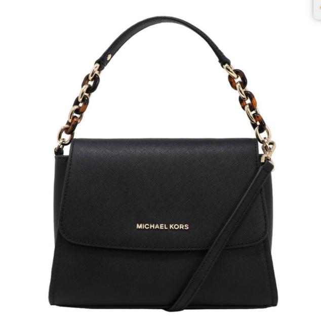 Michael Kors Sofia Small Ew Saffiano Leather Satchel Crossbody Bag In Black