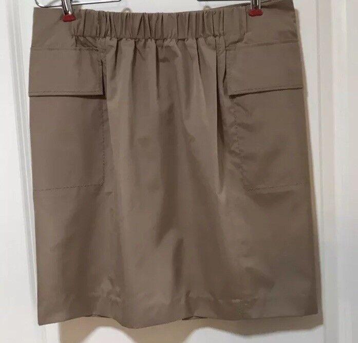 NWT  150 Women's SINCLAIRE 10 Katia Paper Bag Skirt Camel Khaki Tan Sz 12 New