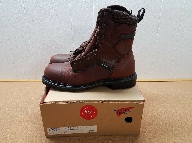 Para hombres Cuero Marrón Rojo WING 2238-1 botas  2 D Hecho en EE. UU.