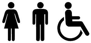 Details Zu Aufkleber Wc Piktogramme Symbole Mann Frau Rollstuhlfahrer Behinderten Toilette