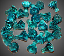 Lego Transparent Blue Crystal Jewel Diamond Gem Pirate Treasure NEW Lot of 25