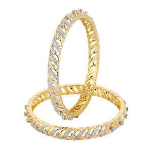 Indian-Gold-Tone-Traditional-Ethnic-American-Diamond-Bangle-Bollywood-Jewelry