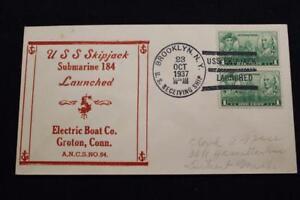 Naval-Cubierta-1937-Barco-Cancelado-Launching-Uss-Skipjack-SS-184-4400