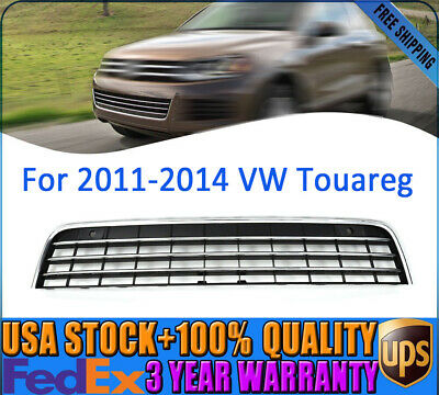 Front Bumper Lower Grille Air Intake Grill Chrome Trim For VW Touareg 2011-2014