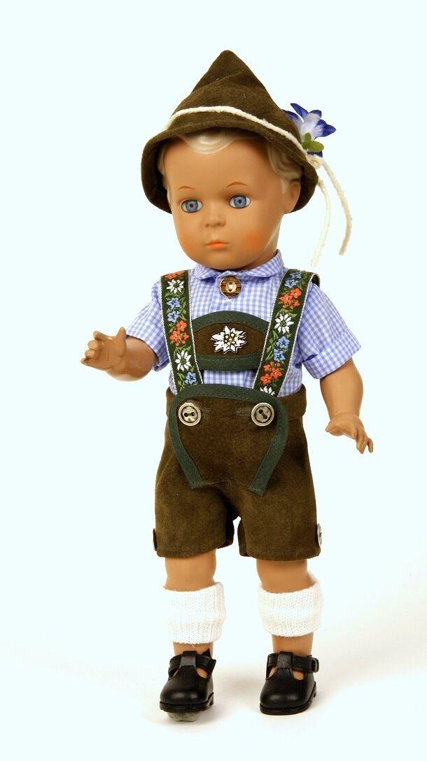 Puppen Kleidung Trachtenanzug Lederhose Hemd Hut Wadenstrümpfe für 49 cm Puppen
