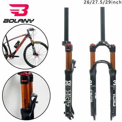 "BOLANY Air Suspension Fork MTB Mountain Bike 26/"" 27.5/"" 29/"" 100mm 1-1//8Threadless"