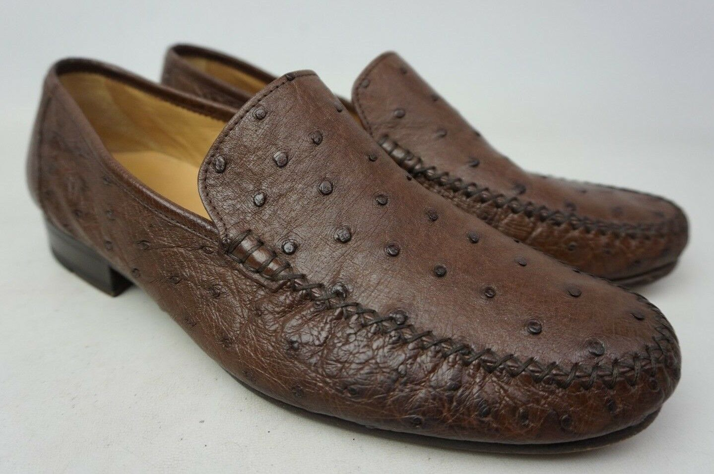 Magnanni Solea Marrone Struzzo Mocassini in pelle da Uomo classiche Scarpe Misura 9 M Scarpe classiche Uomo da uomo 170e55
