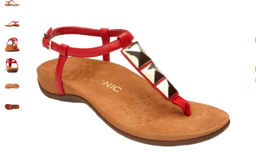 Vionic Nala Red Toe Post Sandal Women's sizes 5-12 NEW