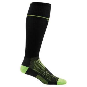 Darn Tough Men's RFL Over-The-Calf Ultra-Light Socks   Black & Lime   1885