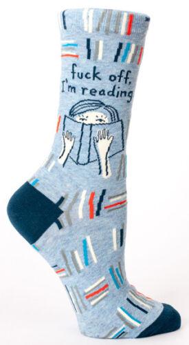 Crew Sock I/'m Reading Blue Q Women/'s F*/&K Off