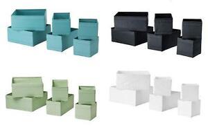 ikea skubb kleiderschrank schublade aufbewahrung boxen veranstalter rosa t rkis ebay. Black Bedroom Furniture Sets. Home Design Ideas