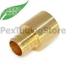 25 34 Pex X 34 Female Sweat Adapters Brass Crimp Fittings Lead Free
