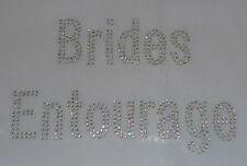 BRIDES ENTOURAGE Clear iron-on hotfix AB RHINESTONE Crystal Transfer (d/l)