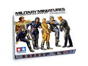 Tamiya-Military-Model-1-35-Russian-Army-Tank-Crew-Rest-Scale-Hobby-35214