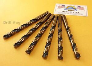 "Drill Hog USA 1//8/"" Drill Bits 1//4/"" Molybdenum M7 6 Pack Lifetime Warranty"