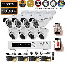 Eyedea 8CH 5500TVL Remote View DVR 2.0MP Night Vision CCTV Security 8 Camera Kit