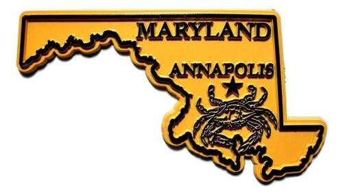Annapolis Maryland Foil Design Fridge Magnet