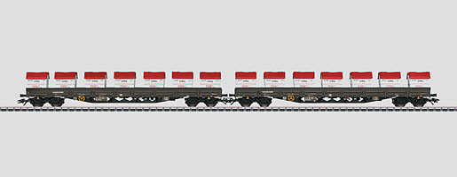 Märklin h0 47029 Lower Board Trolley with lenges Type Ren Wagons New Boxed