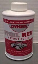 Dykem Steel Red Layout Fluid 8 Oz Bottle With Brush Cap 80496 2 Each