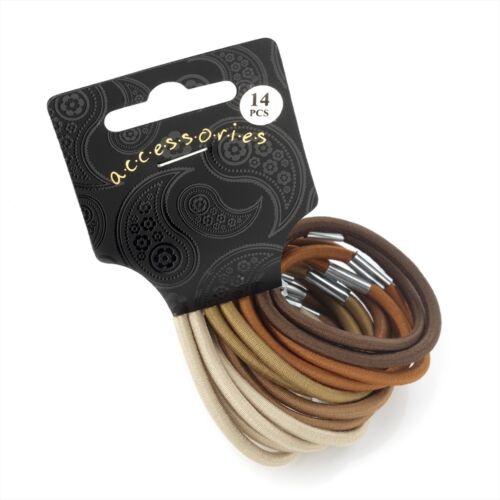 Paquete De 14 de espesor de las bandas de pelo coloreado pelo elásticos Motas-Elección De Colores