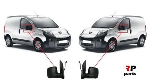 FOR PEUGEOT BIPPER CITROEN NEMO 07-18 WING MIRROR ELECTRIC HEATED PAIR SET LHD