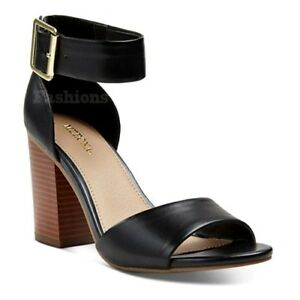 07844fcd71e Womens Merona Noemi Black Strap Block Heel Sandals Shoes NWOB C325 ...