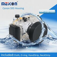 Meikon 40M 130ft Underwater Housing Waterproof Case Cover for Canon S95 Canon